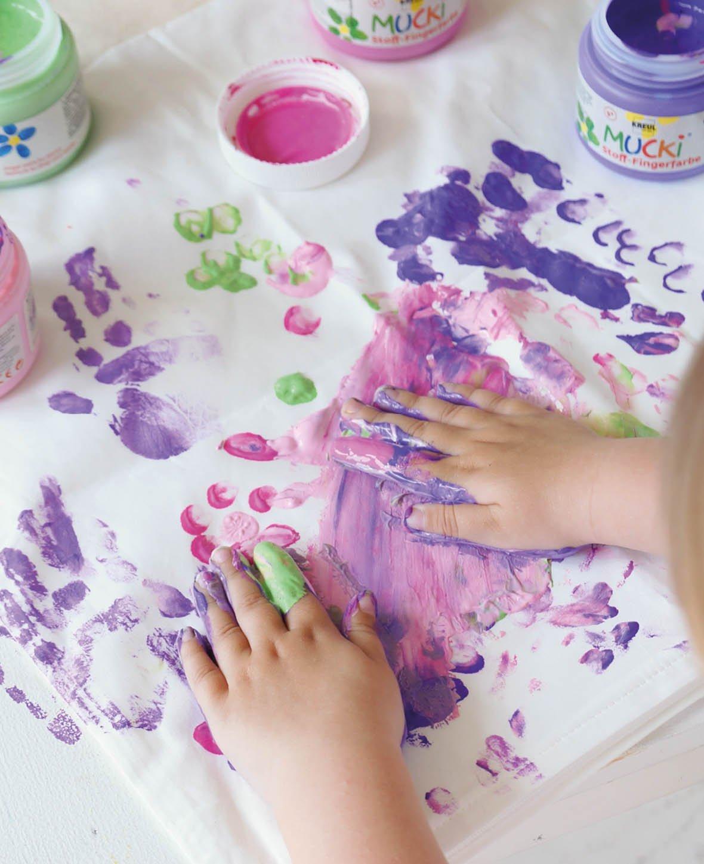 Fingerfarbe Weihnachten.Mucki Stoff Fingerfarbe Pink 150 Ml